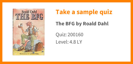 Graphic showing that you can take a sample quiz on the BFG