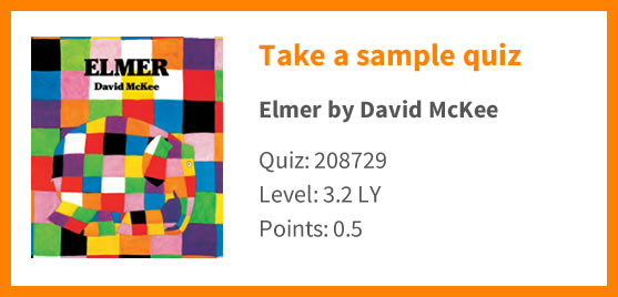 Graphic showing that you can take a sample quiz on Elmer